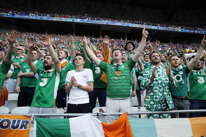 Ireland fans awarded top Paris honour