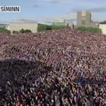 20 000 fans perform Iceland's final 'viking clap'