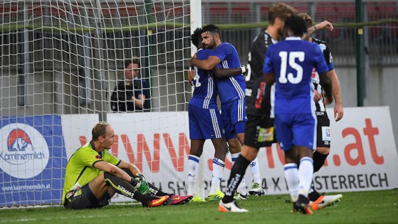 Chelsea claim first win under Conte