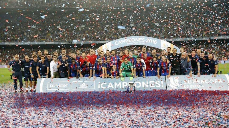 Barca cruise to Super Cup victory