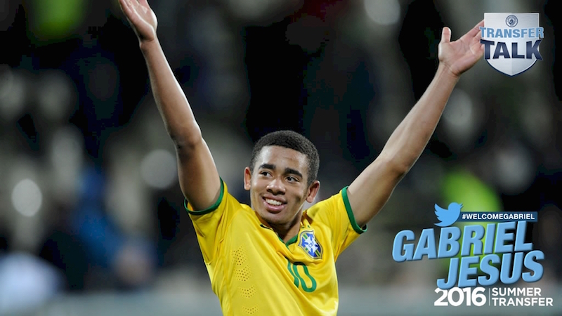 Gabriel Jesus joins Guardiola's City