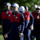 CHASKA, MN - SEPTEMBER 27: Jordan Spieth of the United States looks on during team photocalls prior to the 2016 Ryder Cup at Hazeltine National Golf Club on September 27, 2016 in Chaska, Minnesota.  (Photo by Streeter Lecka/Getty Images)