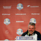 CHASKA, MN - SEPTEMBER 27: Captain Darren Clarke of Europe speaks during a press conference prior to the 2016 Ryder Cup at Hazeltine National Golf Club on September 27, 2016 in Chaska, Minnesota.  (Photo by Cliff Hawkins/Getty Images)