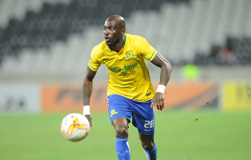 Anthony Laffor of Mamelodi Sundowns c  during the Absa Premiership match between Black Aces and Mamelodi Sundowns  on 25 August 2015 at Mbombela Stadium Pic Sydney Mahlangu/ BackpagePix