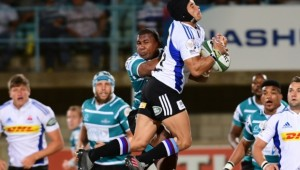 Cheslin Kolbe takes a high ball against Griquas
