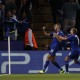 Leicester City's Algerian striker Islam Slimani (C) celebrates scoring his team's first goal during the UEFA Champions League group G football match between Leicester City and Porto at the King Power Stadium in Leicester, central England on Septmeber 27, 2016. / AFP / Adrian DENNIS        (Photo credit should read ADRIAN DENNIS/AFP/Getty Images)