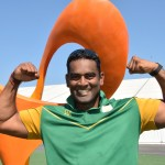 Pillay powers to shot put medal