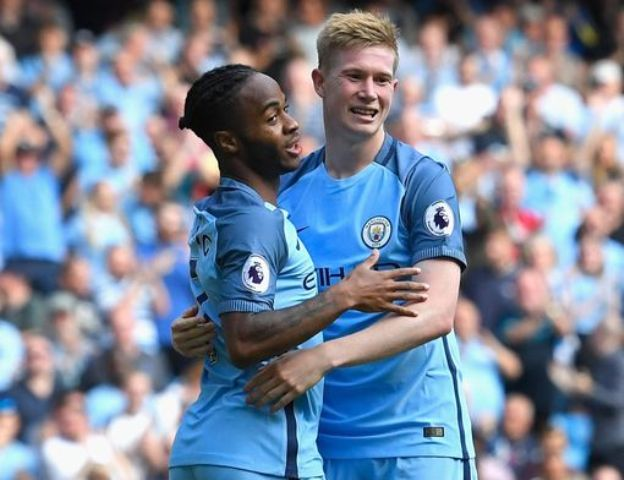 Raheem Sterling and Kevin de Bruyne