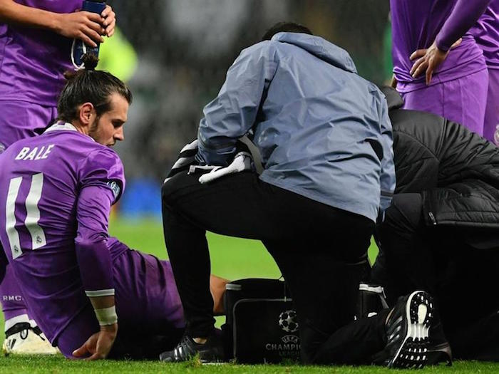Bale sidelined with ankle injury