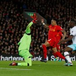 Liverpool held by West Ham at Anfield