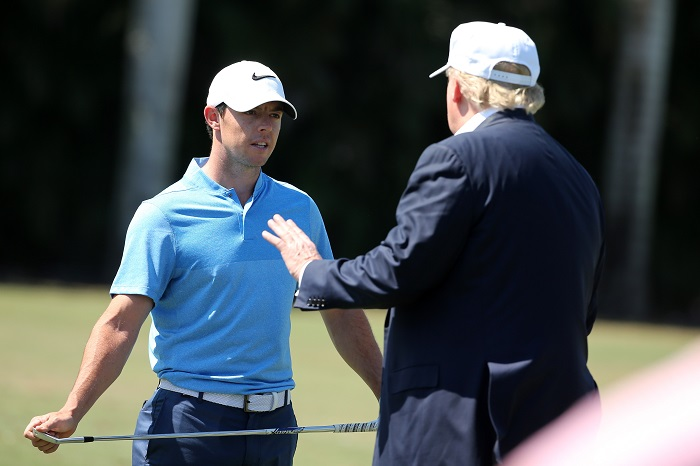 Diplomatic McIlroy deals with Trump backlash