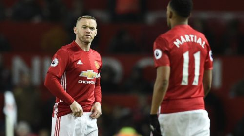 Wayne Rooney and Anthony Martial