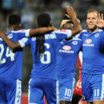Jeremy Brockie celebrates goal with teammates