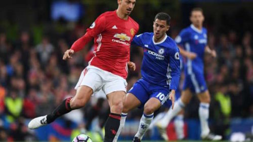 Eden Hazard and Zlatan Ibrahimovic