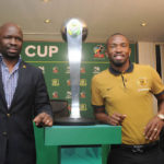 Coach Steve Komphela and Bernard Parker
