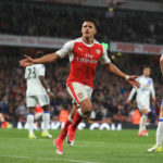 Alexis Sanchez celebrates his goal