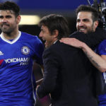 Antonio Conte, Diego Costa and Cesc Fabregas