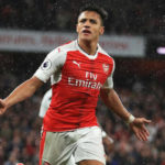 Arsenal's Alexis Sanchez celebrates his goal