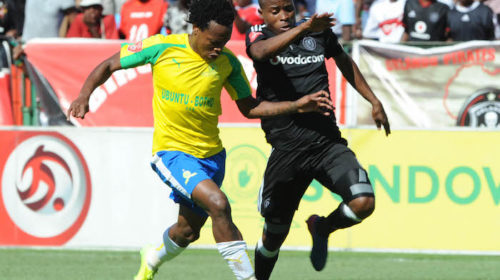 Percy Tau and Thabo Matlaba