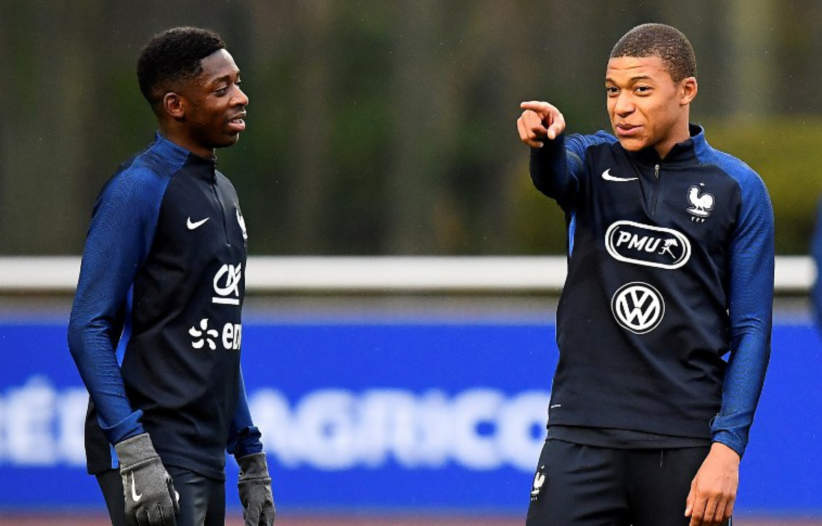 Image result for Dembele and Mbappe