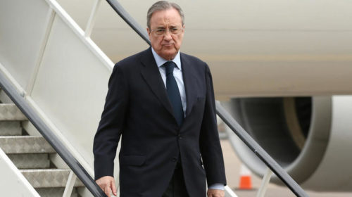 President of Real Madrid Florentino Perez