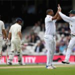 Proteas make inroads, Cook battles on
