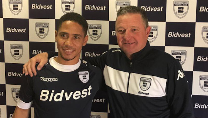 Bidvest Wits' Steven Pienaar and Gavin Hunt