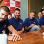 Messi and Barcelona teammates