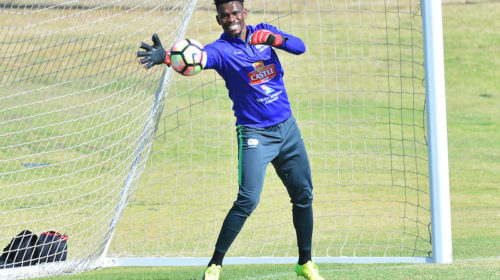 SuperSport United goalkeeper Boalefa Pule