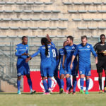 Thabo Mnyamane celebrates goal with his teammates