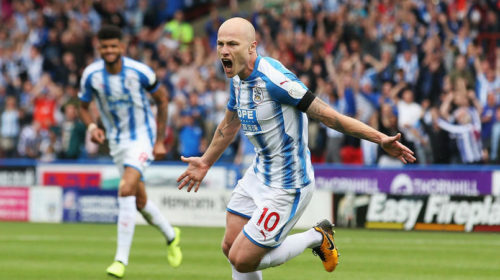 Aaron Mooy celebrating his goal against Newcastle