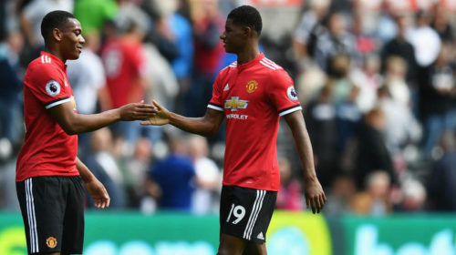 Manchester United duo Anthony Martial and Marcus Rashford