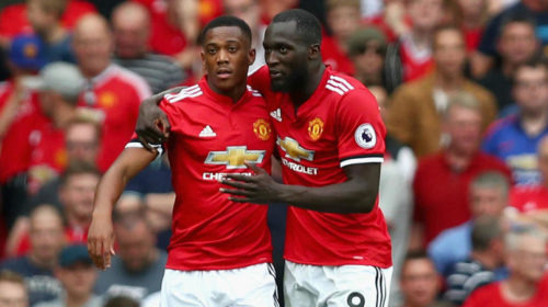 Manchester United duo Anthony Martial and Romelu Lukaku