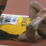 Watch: Bolt injured in his last race