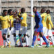 Hlompho Kekana celebrates goal with teammates
