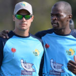 Aiden Markram and Alfred Mothoa at the 2016 Africa T20 Cup – eKasi Challenge