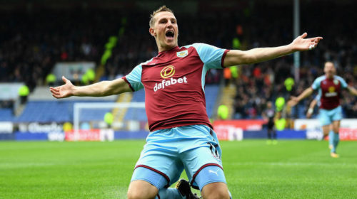 Chris Wood celebrating his goal against Crystal Palace