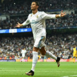 Cristiano Ronaldo celebrates his goal against APOEL
