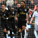 Jamaal Lascelles celebrates his goal with teammates