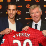 Robin Van Persie with Sir Alex Ferguson