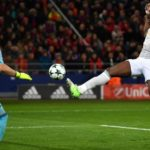 Romelu Lukaku scoring against CSKA Moscow