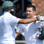 Dean Elgar with Hashim Amla