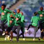 Bafana Bafana training