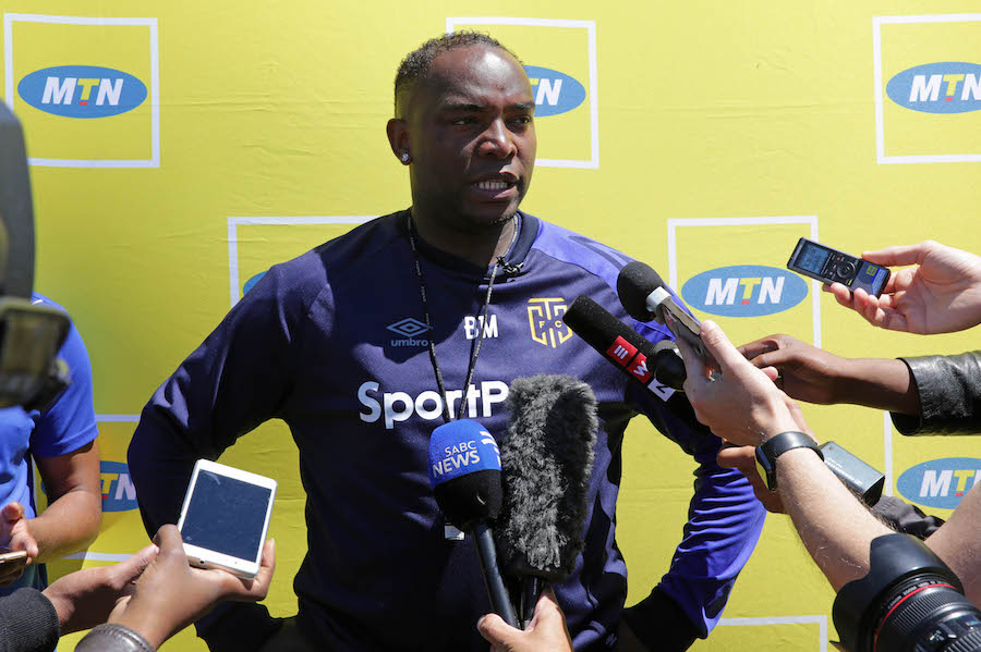 Benni McCarthy head coach of Cape Town City