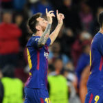 Ton up for Messi as Barca ease past Olympiacos