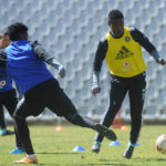 Ayanda Nkosi and Thamsanqa Sangweni of Orlando Pirates