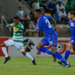 Kabelo Mahlasela challenged by Morgan Gould and Dean Furman