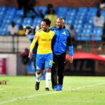 Percy Tau and Pitso Mosimane