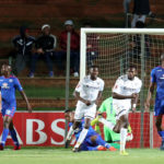Bongani Khumalo celebrates his goal against SuperSport