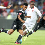 Lyle Foster scores goal while challenged by Thapelo Tshilo